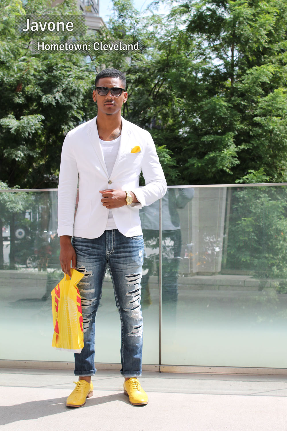 Corra's New York Fashion Week Street Style Blog | Day 1 - Javone from Cleveland