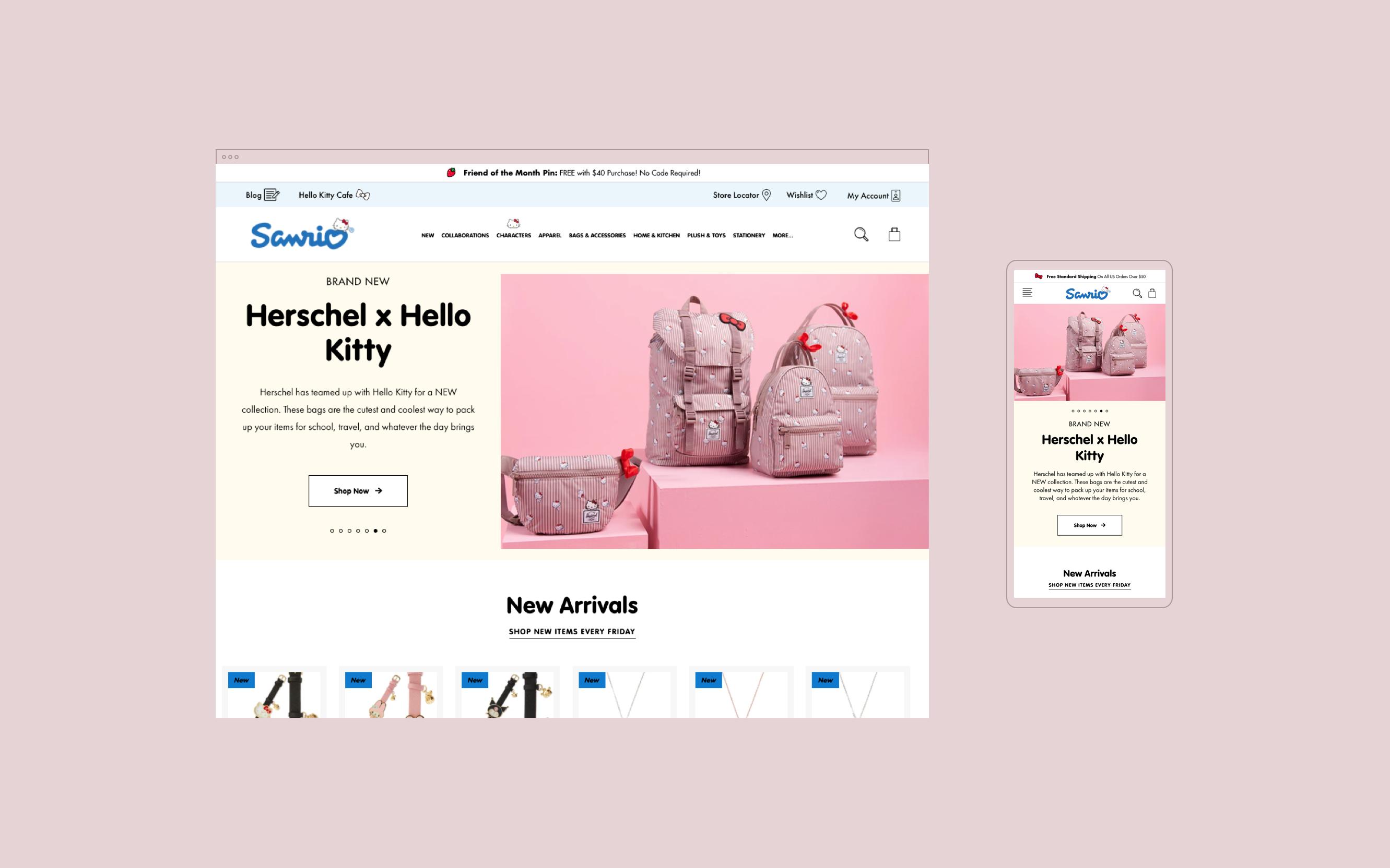 Sanrio homepage