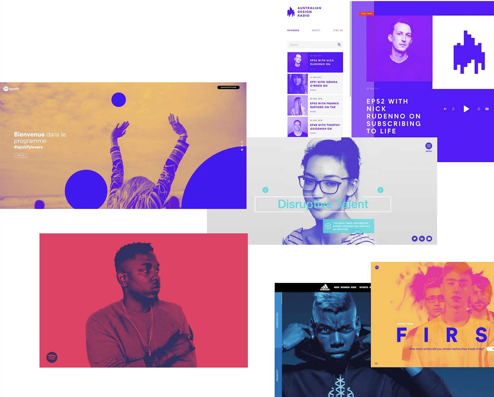 Duotones web design trends 2018