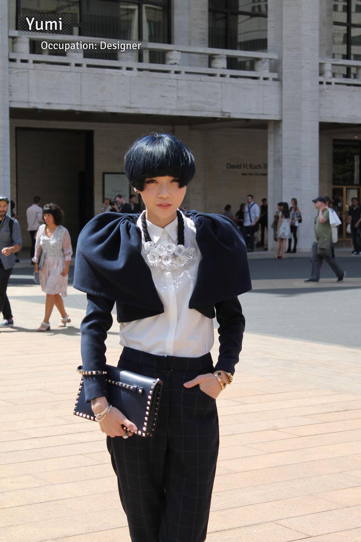 Corra's New York Fashion Week Street Style Blog | Day 1 - Yumi from China