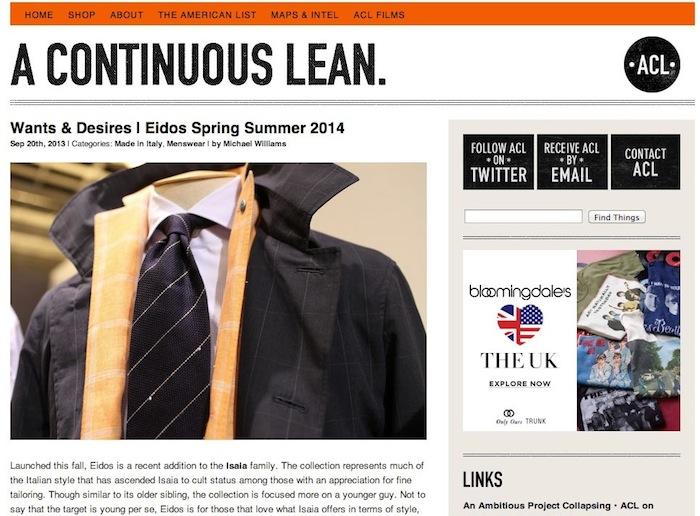 A Continuous Lean