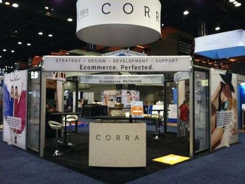 Corra's booth at IRCE 2013