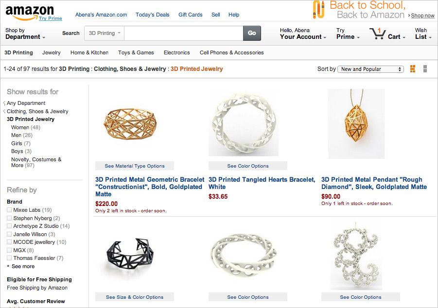 Corra Blog, Amazon 3D Printing Shop