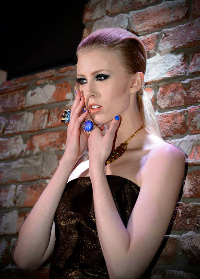 Model Debuts RingBlingz at Raul Penaranda Show During NYFW