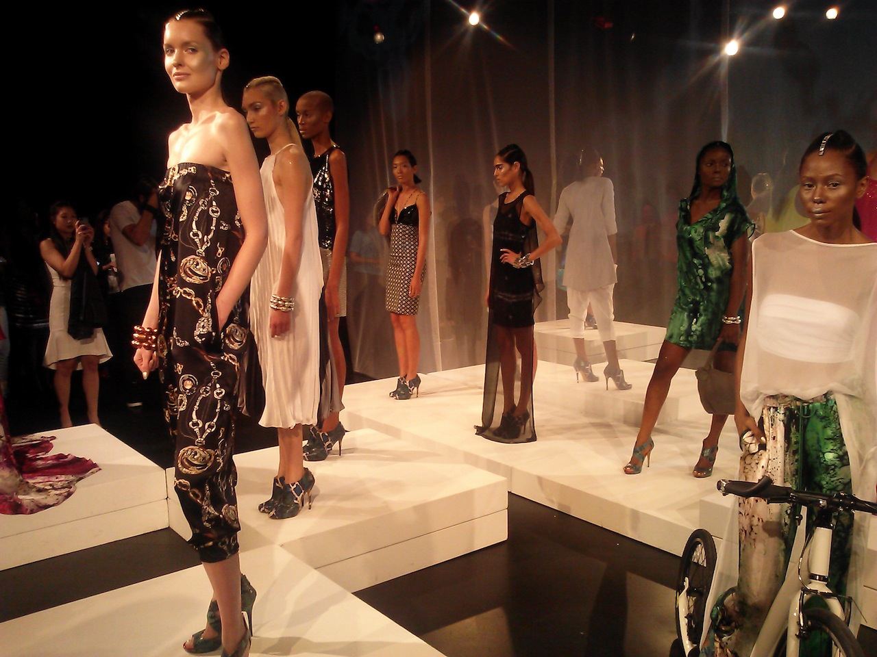 New York Fashion Week Models at Lincoln Center