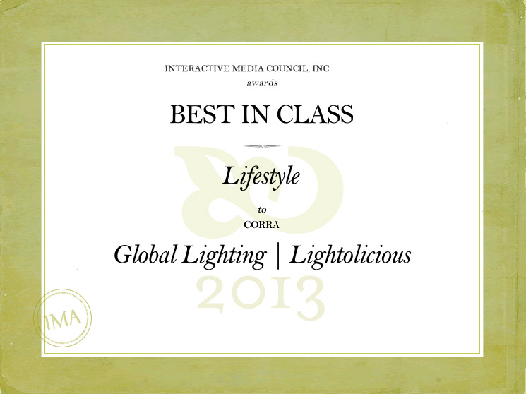 Corra client, Global Lighting, wins Best In Class Interactive Media Award
