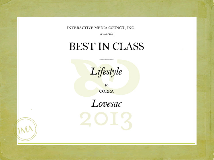 Corra client, Lovesac, wins Best In Class Interactive Media Award