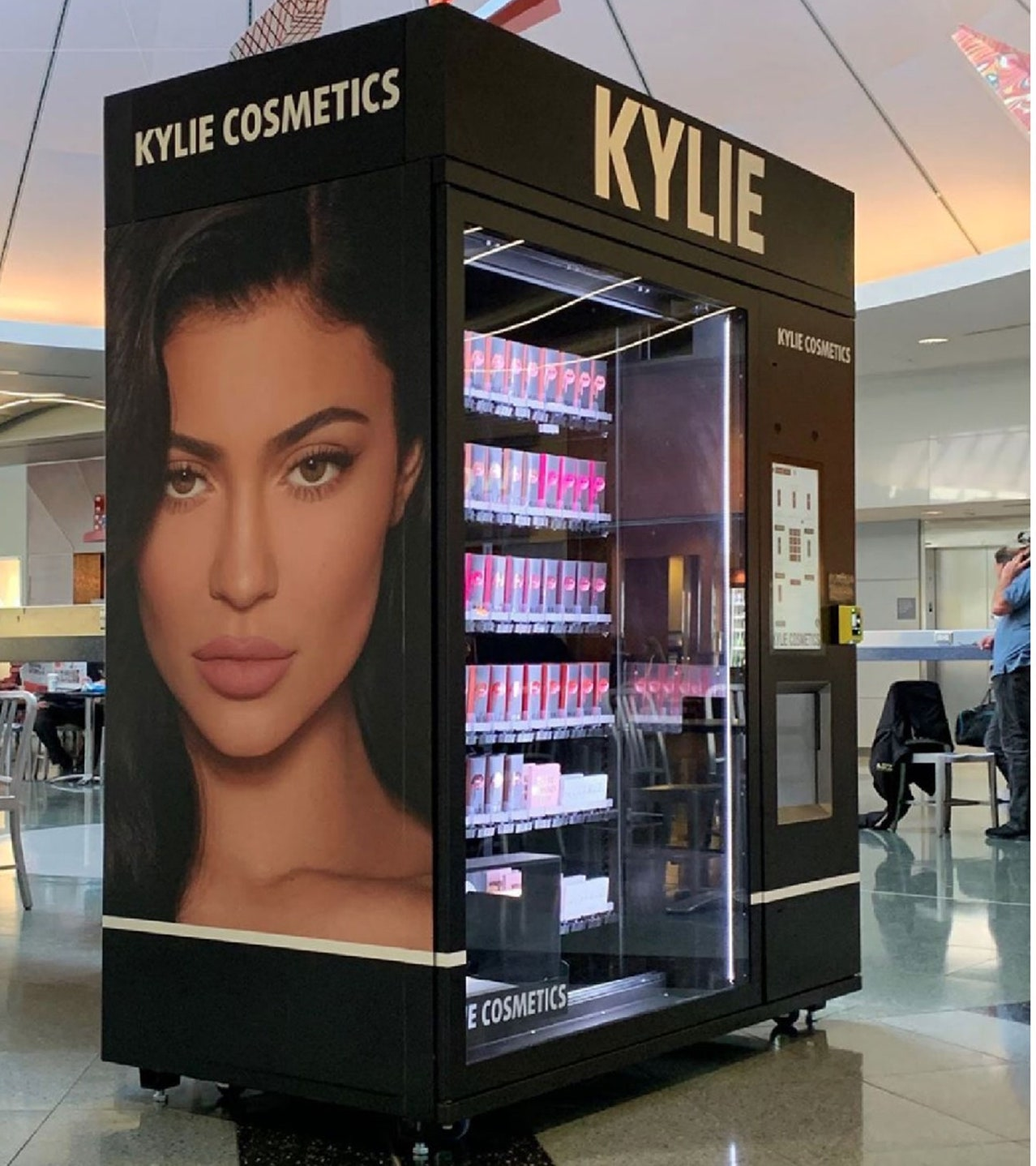 Kylie Cosmetics vending machine in Las Vegas airport. An ecommerce channel that Elastic Path can help you launch fast.