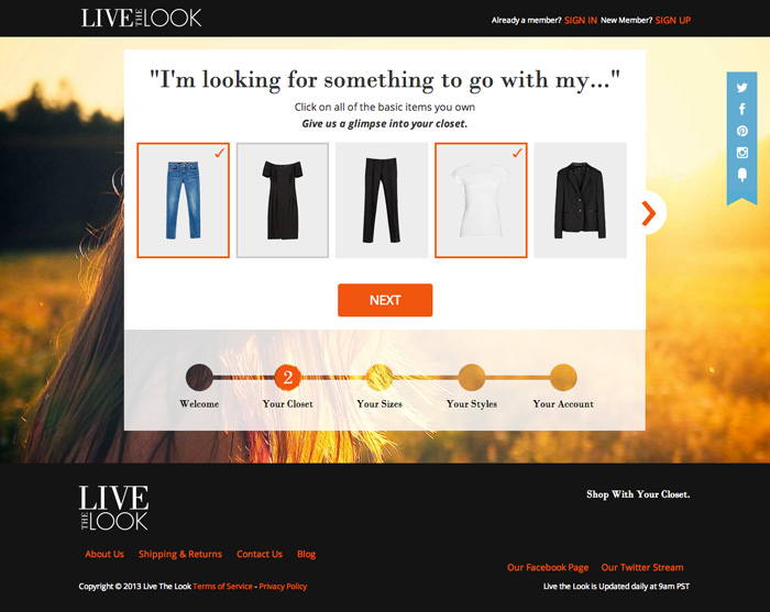 Live the Look Fashion App