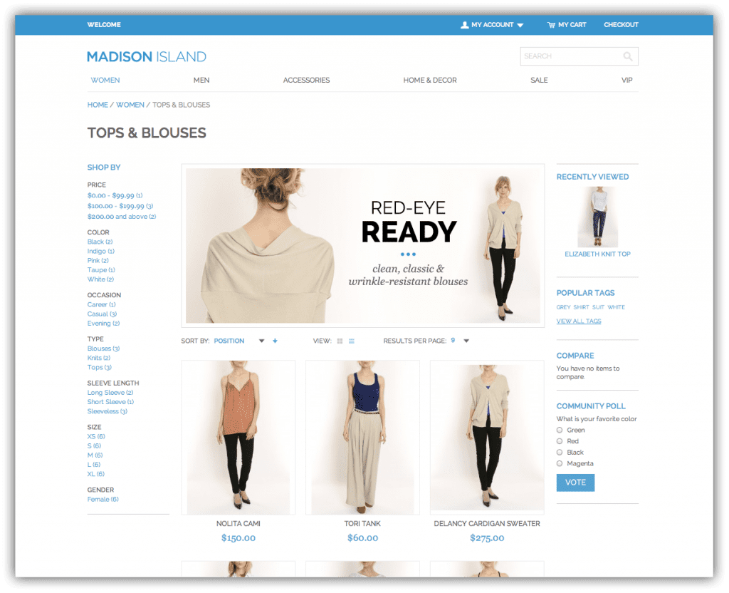 Magento Enterprise Demo Store - designed + developed by Corra