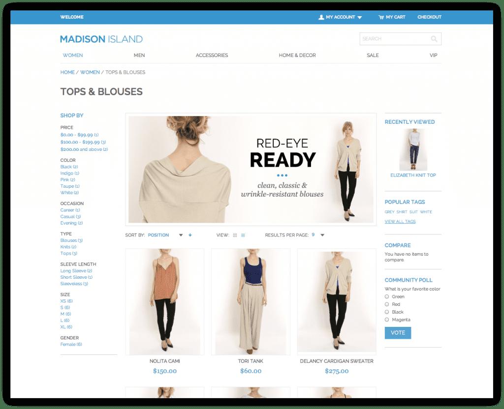 Magento Enterprise Demo Store - designed + developed by Corra