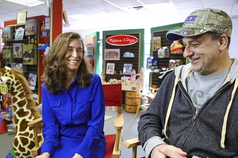 Melissa and Doug in their toy shop