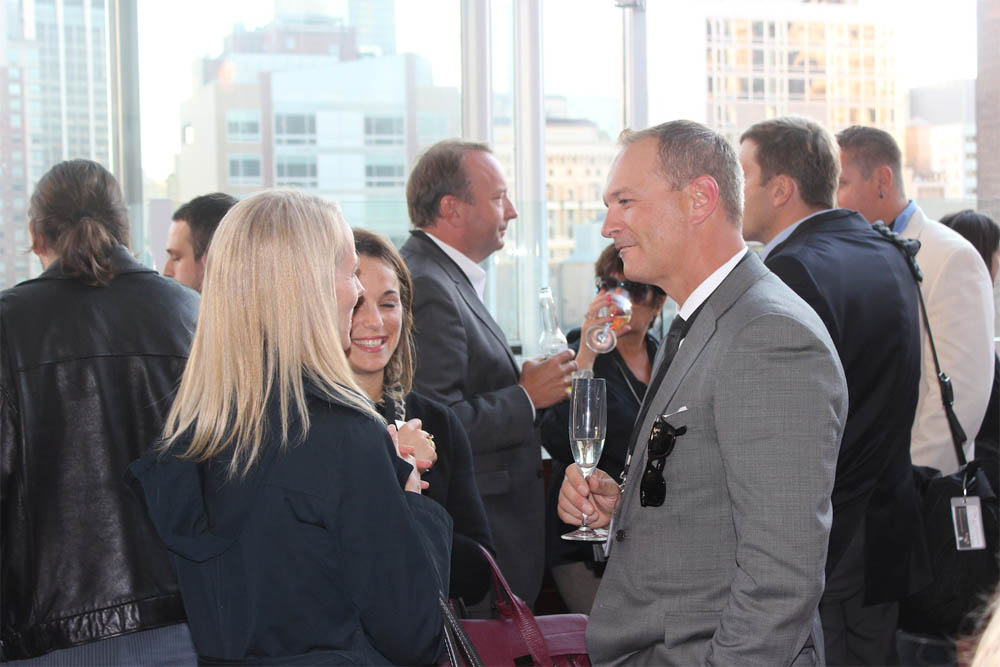 Corra CEO with guests from Komar Brands | Corra's Exclusive pre-WWD Fashion Ecommerce Event, Strand Hotel in NYC