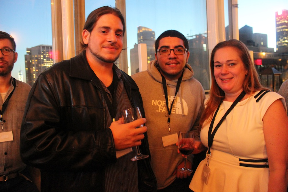 Event guests enjoying the beautiful NYC skyline | Corra's Exclusive pre-WWD Fashion Ecommerce Event, Strand Hotel in NYC
