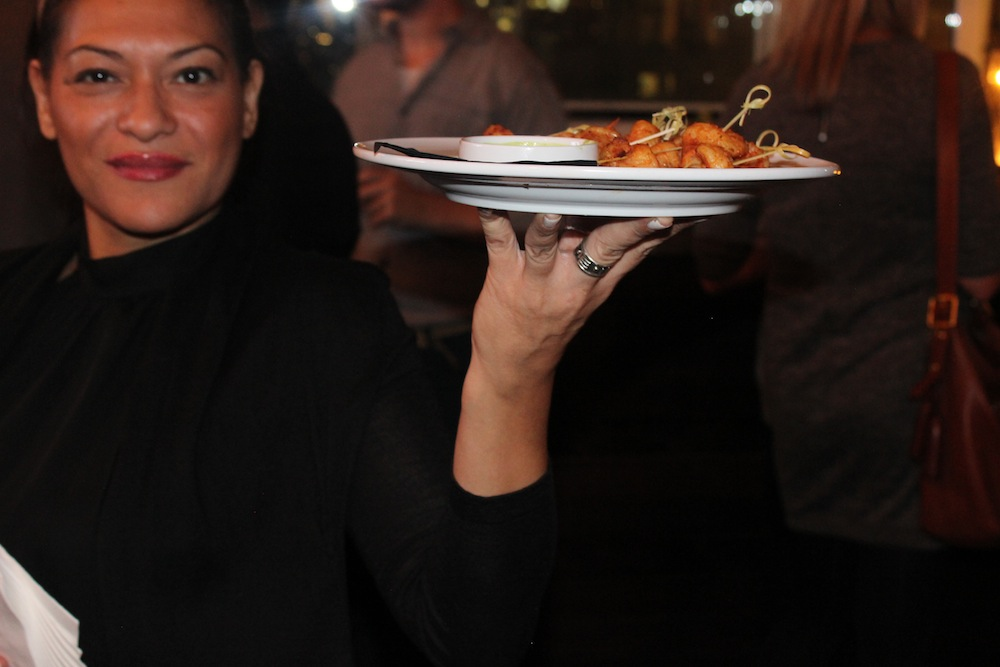 Really awesome waitress! | Corra's Exclusive pre-WWD Fashion Ecommerce Event, Strand Hotel in NYC